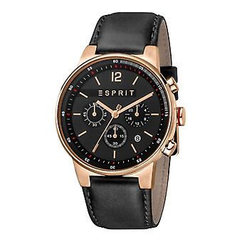 Esprit Mens Watch Equalizer Black Leather SALE Price Original Designer Box