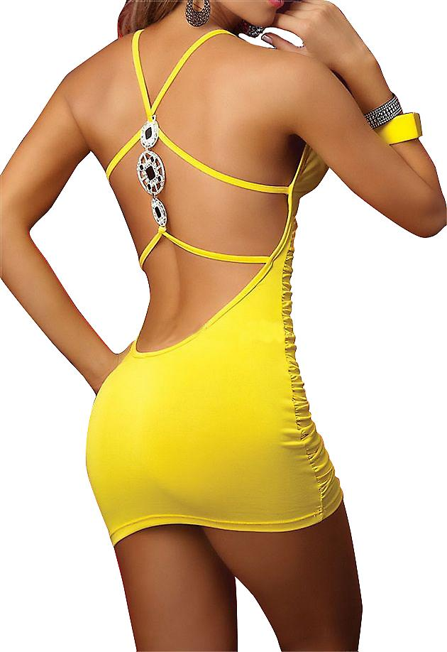 Waooh - Dessous - Mini Kleid dicht gelb