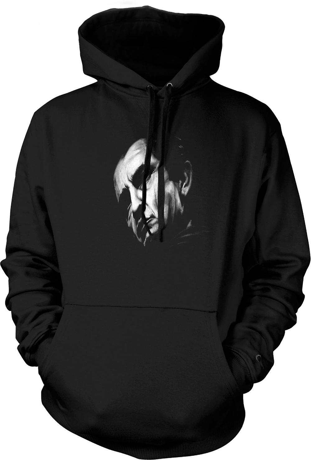 Mens Hoodie - Johnny Cash - Sketch - Portrait