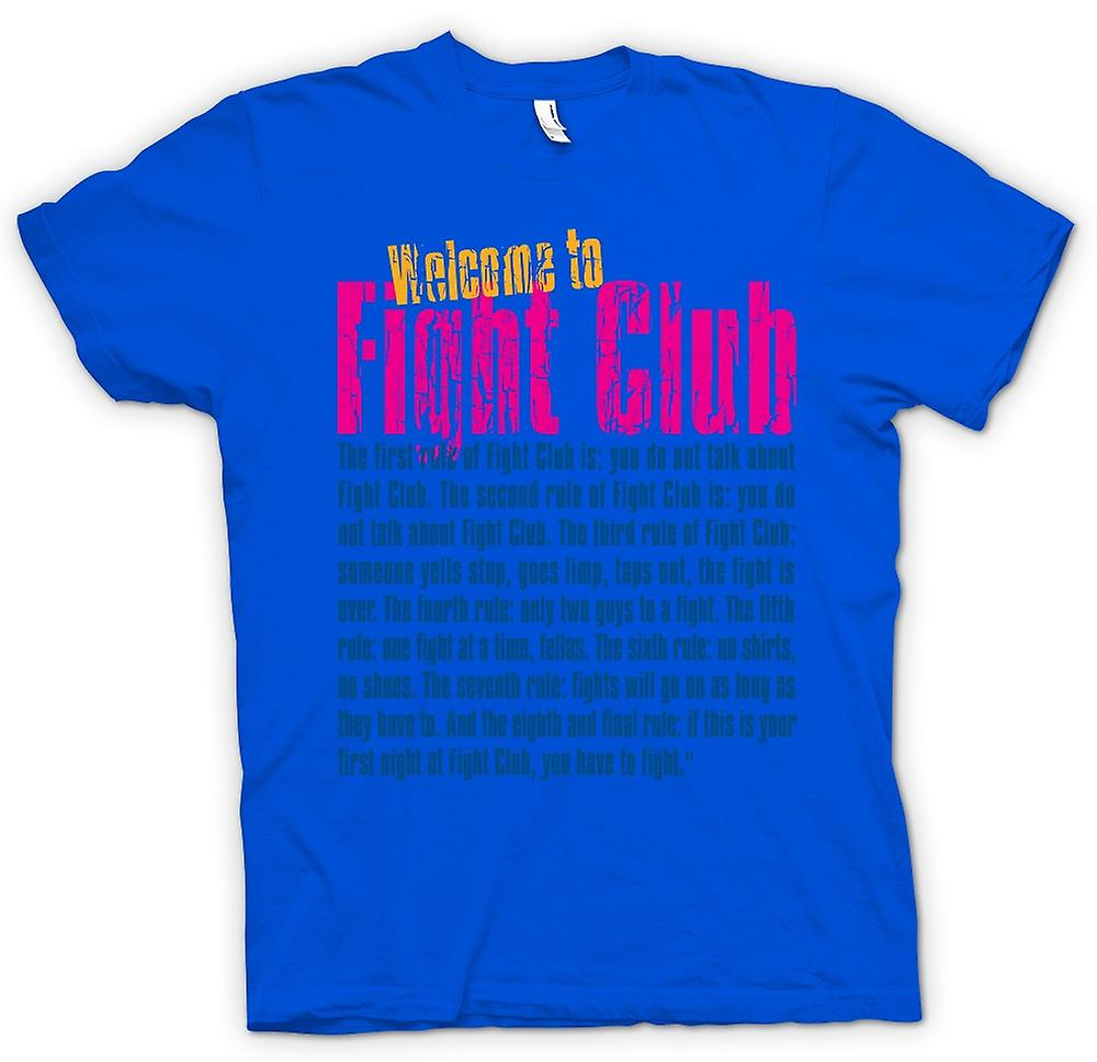 Mens T-shirt - Welcome to Fight Club - Funny Quote