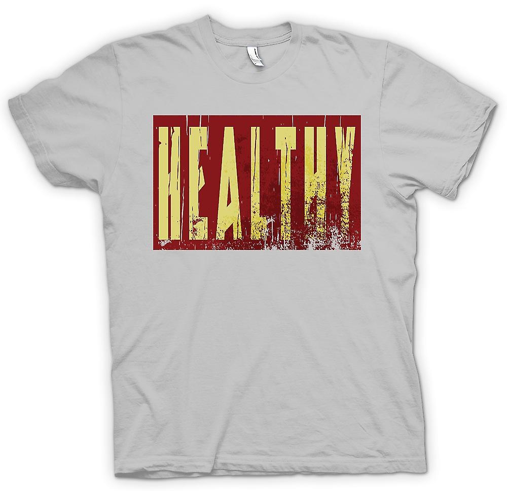 Mens T-shirt - Healthy - Funny Joke