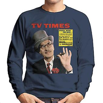 TV Zeiten Groucho Marx 1965 Cover Herren Sweatshirt
