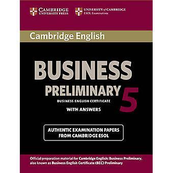 كتاب كامبردج الإنجليزية التجارية 5 الطالب الأولية مع الإجابات