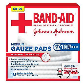 Band-Aid secourisme gaze tapis, moyennes, 3 po x 3 po, 10 ea