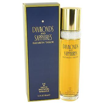 DIAMANTER & SAPHIRES av Elizabeth Taylor Eau De Toilette Spray 3,4 oz/100 ml (kvinner)