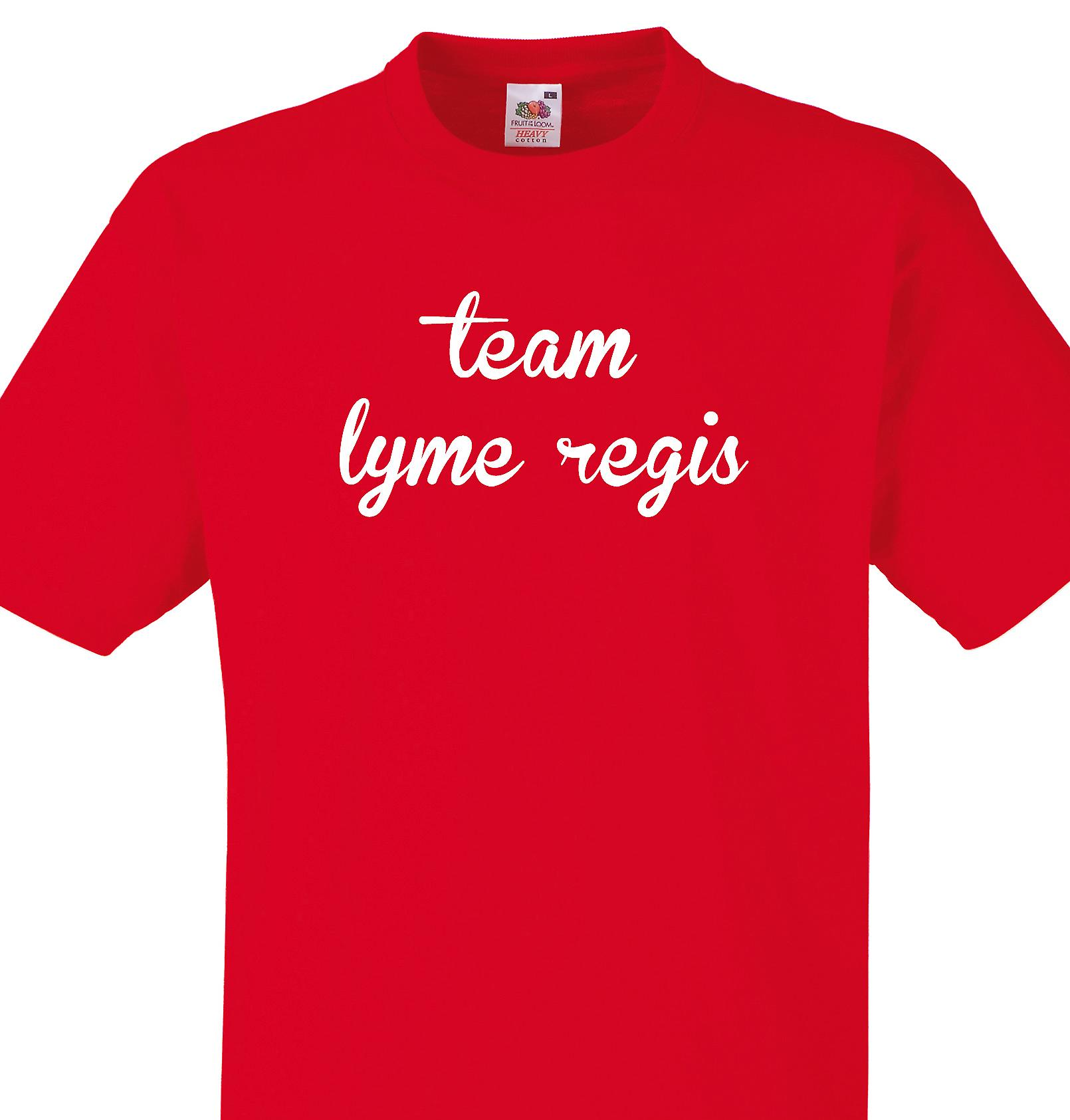 Team Lyme regis Red T shirt