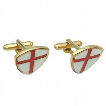 Hard Gold Plated 22x20mm Cross of St George Cufflinks