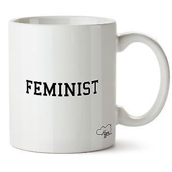 Hippowarehouse Feminist trykt krus Cup keramiske 10 Unzen