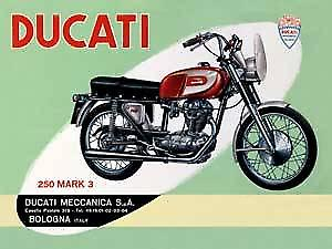 Ducati 250 (green) metal fridge magnet