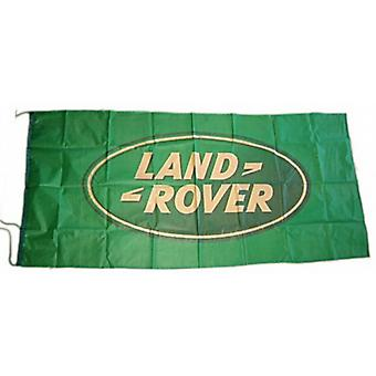 Large Land Rover (green on green) flag 1500mm x 740mm  (of)