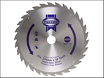 Faithfull Circular Saw Blade 254 x 16/25/30mm x 30T General Purpose