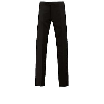 Dobell Boys Black Tuxedo Trousers Regular Fit Satin Side Stripe