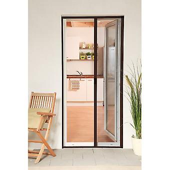 الألومنيوم الباب الاسطوانة المكفوفين طقم 125 × 220 سم الشاشة يطير حماية الحشرات في براون