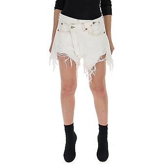 R13 White Denim Shorts