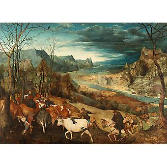Return of the Herd, Pieter Bruegel the Elder, 50x36cm