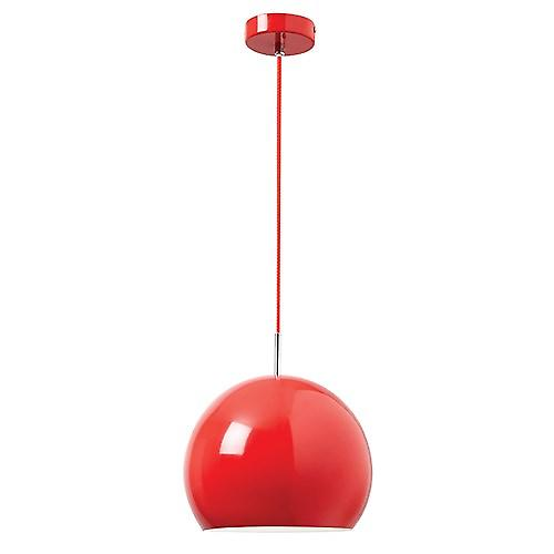 Endon ALZIRA-RE Alzira Modern Red Metal Adjustable Ceiling Pendant With Braided Cable