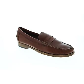 Sebago Legacy Penny  Mens Brown Leather Casual Slip On Loafers Shoes