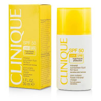 Clinique Mineral Sunscreen Fluid For Face Spf 50 - Sensitive Skin Formula - 30ml/1oz