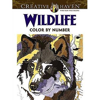 Creative Haven Wildlife Color by Number Coloring Book by Diego Pereir