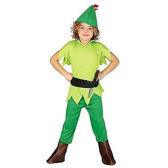 Jongens Archer Peter Pan fancy dress kostuum