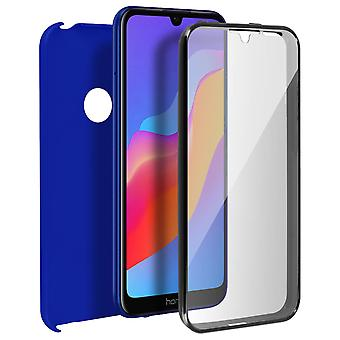 Silicone case + back cover in polycarbonate for Huawei Y6 2019 / Honor 8A - Bleu