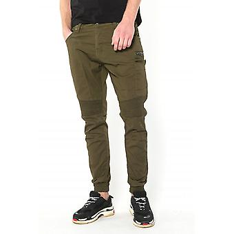 883 Police Moriarty Slim Fit Cuffed Cargo Jeans | Khaki