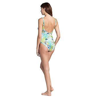 Feraud 3195302-16526 Women's Voyage Sealeaves Blue Costume One Piece Swimsuit