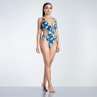 Golddigga Womens Plunge One Piece Swimsuit Beach Swimwear Ladies