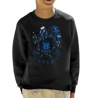 Alien Queen Predator Collage Kid's Sweatshirt