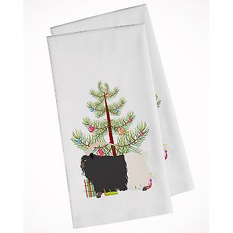 Welsh Black-Necked Goat Christmas White Kitchen Towel Set of 2