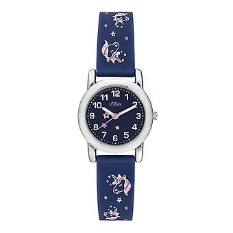 s.Oliver Watch Silicone Ribbon Watch Kids Girl SO-3915-PQ