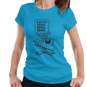 Grimmy Beach All Day Women's T-Shirt