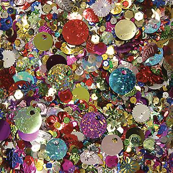 Sequins & Spangles 4Oz Assorted Shapes & Colors 6114