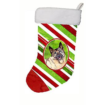 Norwegian Elkhound Candy Cane Holiday Christmas Christmas Stocking LH9263