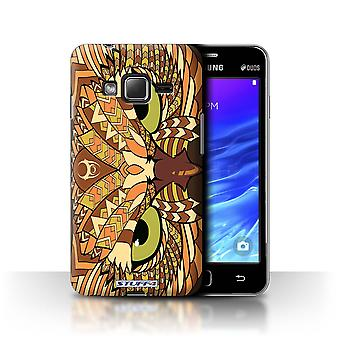 STUFF4 Tilfelle/Cover for Samsung Z1/Z130/ugle-Orange/Aztec dyr