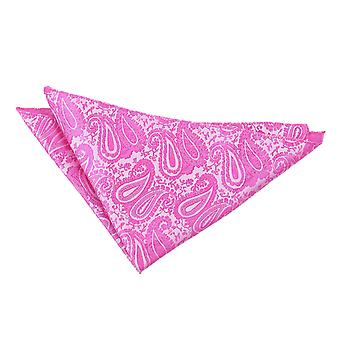 Fuchsia Pink Paisley Tuch / Tasche Square