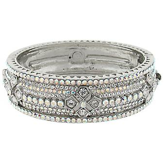Butler & Wilson Swarovski Crystals Deco Flowers Bangle