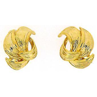 Clip auf Ohrringe Shop Gold plattiert Blütenblatt-Clip auf Ohrringe