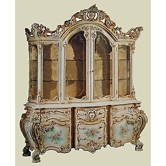 baroque vitrina glass cabinet  antique style venetian baroque Vp9971