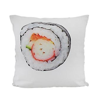 18 in. Sushi Roll and Crab Decorative Throw Pillow