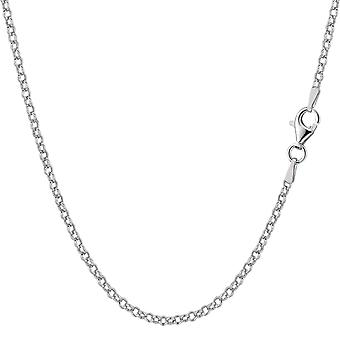 Rodierat Sterling Silver Rolo Chain halsband, 1, 8mm