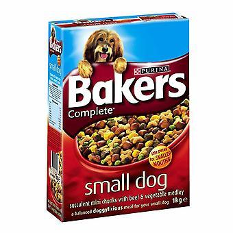 Bagere komplet voksen lille hund oksekød 1kg (pakke med 4)