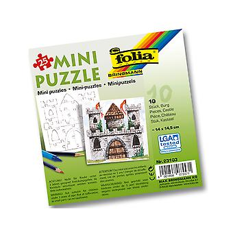 10 Mini Jigsaw Puzzles for Kids Colour In Crafts - Castle | Princess Kids Crafts