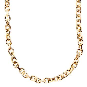 Iced out stainless steel anchor chain - 5 mm gold