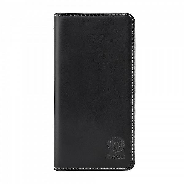 Bugatti BookCover Oslo real leather case for Samsung Galaxy Alpha Black