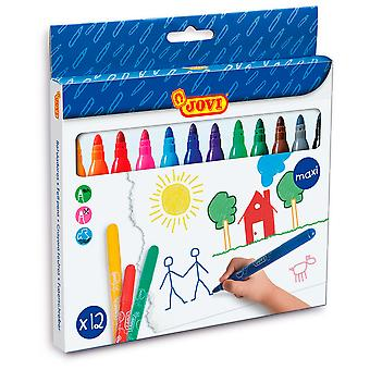 Jovi Estuche 12 Rotuladores Maxi De  (Toys , School Zone , Drawing And Color)