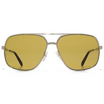 Marc Jacobs Platz Pilotenbrille In Palladium Brown