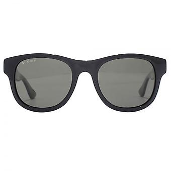 Gucci Urban Wayfarer Sunglasses In Black Green Grey Polarised
