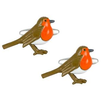 Zennor Robbin Cufflinks - Brown/Orange