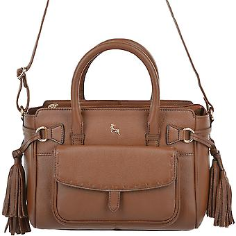 Ashwood Small Leather Handbag With Purse Pocket - 61511 Tan